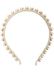 Ca And Lou Clotilde Pearl Embellished Hair Band Gold