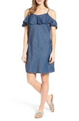 Rd Style Women's Off The Shoulder Chambray Dress