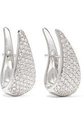 Anita Ko 18 Karat White Gold Diamond Earrings One Size