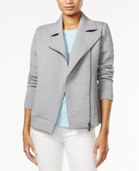 Tommy Hilfiger Ginger Moto Jacket Only At Macy's Medium Grey