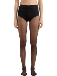 Wolford Control Top Back Seam Stockings Black