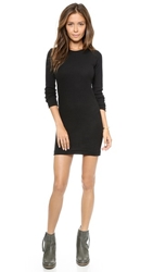 Edith A. Miller Thermal Long Sleeve Mini Dress Black