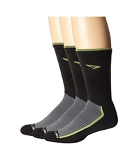 Drymax Sport Trail Running Crew 3 Pack Lime Green Black Crew Cut Socks Shoes