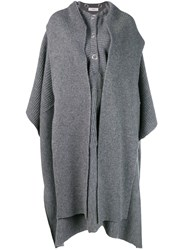 Pringle Of Scotland Knitted Cape Grey