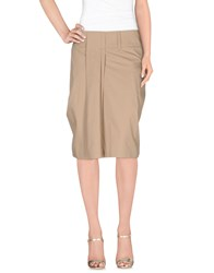 Gunex Skirts Knee Length Skirts Women Beige