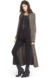 Free People Long Sweater Coat Black