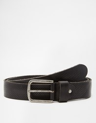 Selected Homme Leather Belt Black