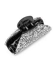 Natasha Faceted Crystal Pave Hair Clip Silver
