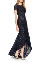 Theia Women's Lace High Low Gown