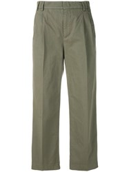 Aspesi Casual Cropped Chinos Green