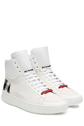 Burberry Shoes And Accessories Leather High Top Sneakers White