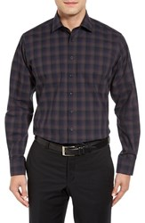 Toscano Men's Melange Plaid Sport Shirt
