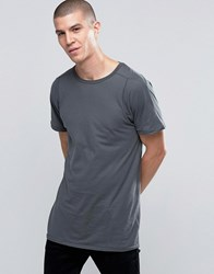 Selected Longline T Shirt In Grey Grey