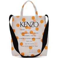 Kenzo Orange Polka Dot Invitation Tote