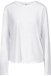 Vince Pima Cotton And Modal Blend Top White