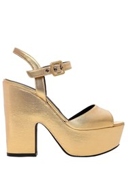 Le Silla 130Mm Metallic Lurex Platform Sandals