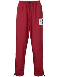 Diadora Side Stripe Track Pants Red
