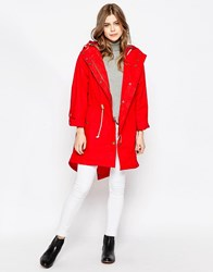 Gloverall Classic Parka Red
