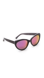 Markus Lupfer Cat Eye Revo Sunglasses Black Pink
