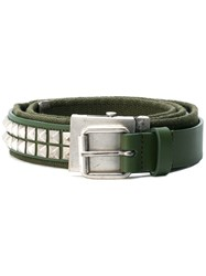Gosha Rubchinskiy Studded Belt Green