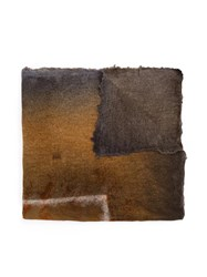 Avant Toi Frayed Scarf Brown