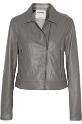L'agence Leather Jacket Anthracite