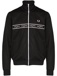 Fred Perry Logo Tape Track Jacket Black
