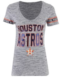 5Th And Ocean Women's Houston Astros Space Dye Sleeve T Shirt Navy