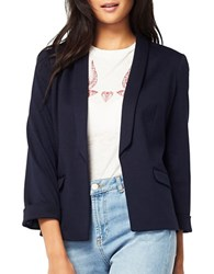 Miss Selfridge Ponte Blazer Navy