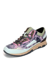 Lanvin Metallic Leather Running Sneaker Multicolor
