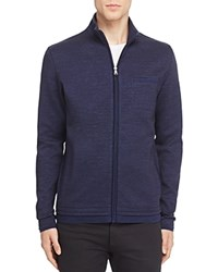 Boss Cannobio Knit Zip Jacket Dark Blue