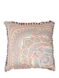 Etro Moussac Cotton Pillow Beige
