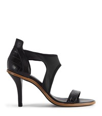 Reiss Camille High Heeled Strappy Sandals In Black