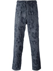 Ymc Floral Print Trousers Blue