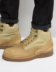 Religion Suede Laceup Boots Beige
