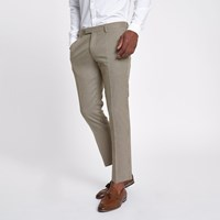River Island Brown Dogstooth Check Cropped Skinny Trousers