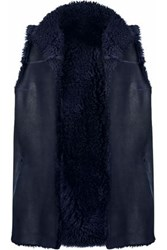Karl Donoghue Pillow Shearling Vest Midnight Blue