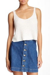 American Apparel Sparkle Crop Tank White