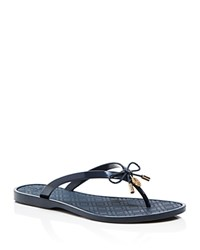 Tory Burch Jelly Bow Thong Sandals Tory Navy