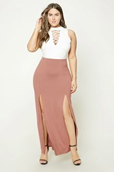 Forever 21 Plus Size M Slit Maxi Skirt