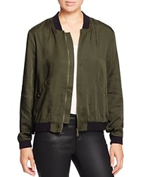 Alison Andrews Color Block Bomber Jacket Dusty Olive