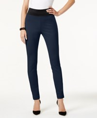Inc International Concepts Pull On Skinny Pants Only At Macy's Deep Twilight