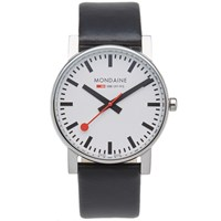 Mondaine Quartz Evo 38Mm Watch Black