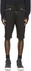 Markus Lupfer Black Zipper Lounge Shorts