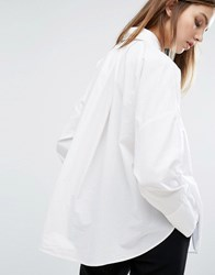 Weekday Wide Pleat Back Shirt 10 201 White