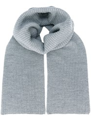 Barbara Bui Ribbed Knitted Scarf Grey