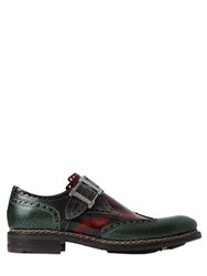 Harris Brogue Brushed Leather Monk Strap Shoes