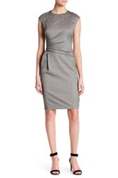 Lafayette 148 New York Side Waist Ruched Dress Gray
