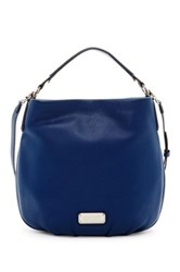 Marc By Marc Jacobs New Q Hillier Leather Hobo Blue