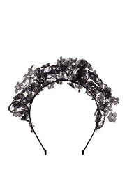 Yunotme By Gloria Yu 'Loxy' Floral Lace Headband Black